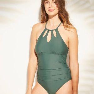 Merona Green Halter Swimsuit